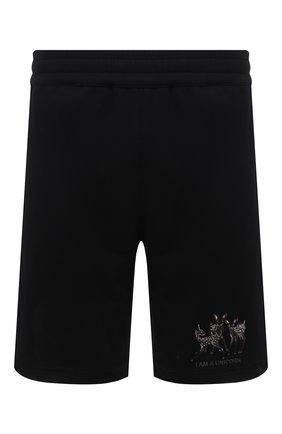 Мужские хлопковые шорты BURBERRY черного цвета, арт. 8042690 | Фото 1
