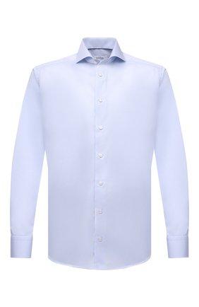 Мужская хлопковая сорочка ETON голубого цвета, арт. 2567 73511 | Фото 1 (Материал внешний: Хлопок; Случай: Формальный; Стили: Классический; Рукава: Длинные; Принт: Однотонные; Воротник: Акула; Манжеты: На пуговицах; Рубашки М: Slim Fit; Длина (для топов): Стандартные)