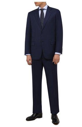 Мужская хлопковая сорочка ETON голубого цвета, арт. 2567 73511 | Фото 2 (Материал внешний: Хлопок; Случай: Формальный; Стили: Классический; Рукава: Длинные; Принт: Однотонные; Воротник: Акула; Манжеты: На пуговицах; Рубашки М: Slim Fit; Длина (для топов): Стандартные)
