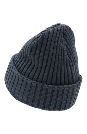 Мужская шерстяная шапка PAUL&SHARK серо-голубого цвета, арт. C0P1051/FLV   Фото 2 (Материал: Шерсть; Кросс-КТ: Трикотаж)