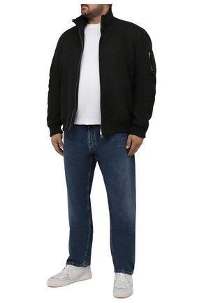 Мужские джинсы BRIONI синего цвета, арт. SPPF0M/01D05/CHAM0NIX | Фото 2 (Длина (брюки, джинсы): Стандартные; Материал внешний: Хлопок; Кросс-КТ: Деним; Силуэт М (брюки): Прямые; Стили: Классический)