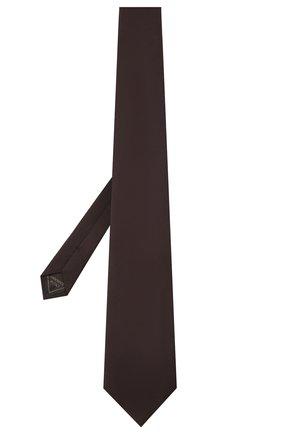 Мужской галстук из шелка и кашемира BRIONI темно-коричневого цвета, арт. 062I00/01414   Фото 2