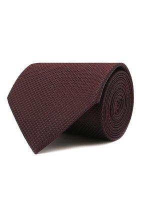 Мужской шелковый галстук BRIONI бордового цвета, арт. 062H00/01433   Фото 1
