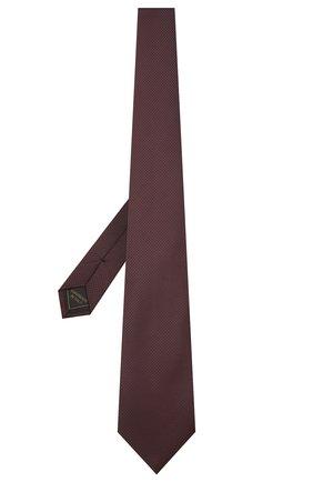 Мужской шелковый галстук BRIONI бордового цвета, арт. 062H00/01433   Фото 2