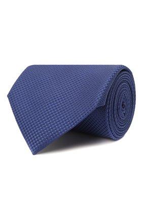 Мужской шелковый галстук BRIONI синего цвета, арт. 062H00/01433 | Фото 1 (Материал: Шелк, Текстиль; Принт: Без принта)