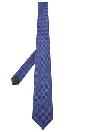 Мужской шелковый галстук BRIONI синего цвета, арт. 062H00/01433 | Фото 2 (Материал: Шелк, Текстиль; Принт: Без принта)