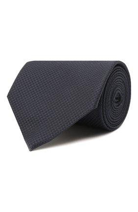 Мужской шелковый галстук BRIONI темно-синего цвета, арт. 062H00/01433 | Фото 1 (Материал: Текстиль, Шелк; Принт: Без принта)