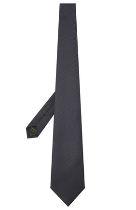 Мужской шелковый галстук BRIONI темно-синего цвета, арт. 062H00/01433 | Фото 2 (Материал: Текстиль, Шелк; Принт: Без принта)