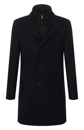 Мужской шерстяное пальто BOSS темно-синего цвета, арт. 50458986 | Фото 1