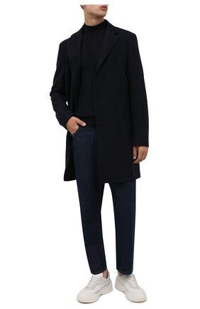 Мужской шерстяное пальто BOSS темно-синего цвета, арт. 50458986 | Фото 2