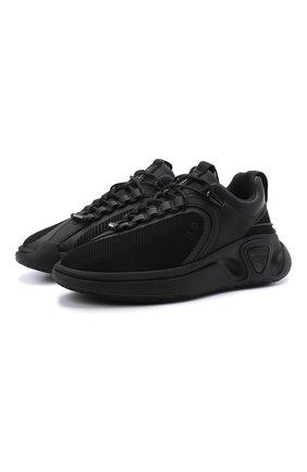 Мужские комбинированные кроссовки b-runner BALMAIN черного цвета, арт. VM0VI261/TTRM | Фото 1