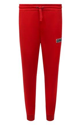 Мужские джоггеры VALENTINO красного цвета, арт. WV3MD03E7ML | Фото 1 (Материал внешний: Синтетический материал, Хлопок; Силуэт М (брюки): Джоггеры; Стили: Спорт-шик; Длина (брюки, джинсы): Стандартные)