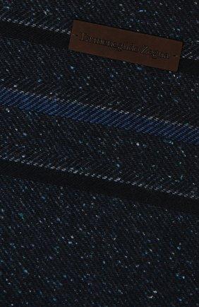 Мужской шарф из шерсти и шелка ERMENEGILDO ZEGNA темно-синего цвета, арт. Z2L07S/26F | Фото 2