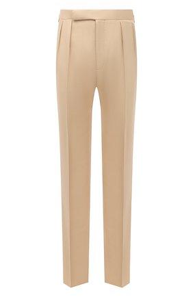 Мужские шелковые брюки RALPH LAUREN бежевого цвета, арт. 798843735 | Фото 1 (Материал внешний: Шелк; Материал подклада: Вискоза; Длина (брюки, джинсы): Стандартные; Случай: Вечерний; Стили: Классический)
