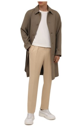 Мужские шелковые брюки RALPH LAUREN бежевого цвета, арт. 798843735 | Фото 2 (Материал внешний: Шелк; Материал подклада: Вискоза; Длина (брюки, джинсы): Стандартные; Случай: Вечерний; Стили: Классический)
