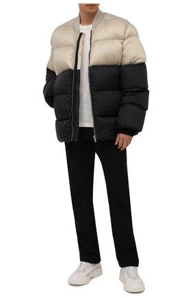 Мужская пуховая куртка RICK OWENS черного цвета, арт. RU02A5788/NZD3 | Фото 2