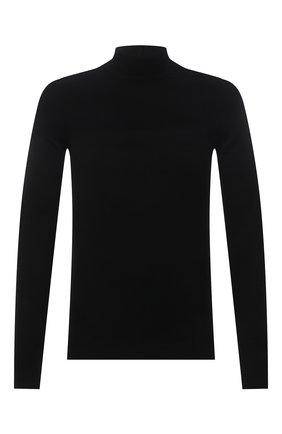 Мужской свитер из кашемира и шерсти RICK OWENS черного цвета, арт. RU02A5683/WSBR | Фото 1