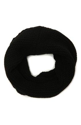 Мужской шарф-снуд из кашемира и шерсти RICK OWENS черного цвета, арт. RU02A5484/WSBR   Фото 1