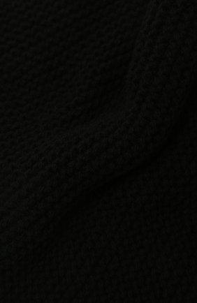 Мужской шарф-снуд из кашемира и шерсти RICK OWENS черного цвета, арт. RU02A5484/WSBR   Фото 2