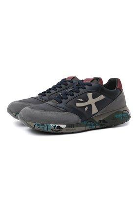 Мужские комбинированные кроссовки zac-zac PREMIATA серого цвета, арт. ZACZAC/VAR4070 | Фото 1
