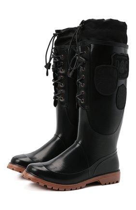 Мужские сапоги DSQUARED2 черного цвета, арт. RBM0001 17204289   Фото 1