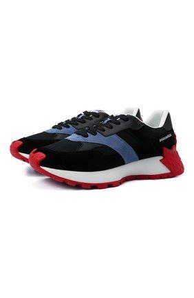 Мужские комбинированные кроссовки maple 64 DSQUARED2 черного цвета, арт. SNM0184 01601683 | Фото 1