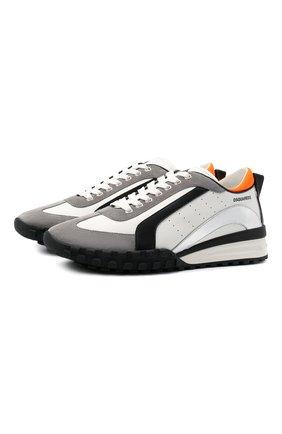 Мужские кожаные кроссовки legend DSQUARED2 белого цвета, арт. SNM0196 01504324 | Фото 1