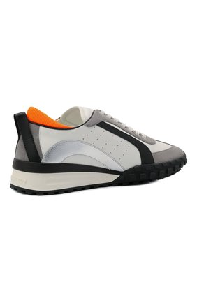 Мужские кожаные кроссовки legend DSQUARED2 белого цвета, арт. SNM0196 01504324   Фото 4 (Материал внутренний: Натуральная кожа; Стили: Гранж; Подошва: Массивная)