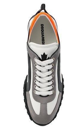 Мужские кожаные кроссовки legend DSQUARED2 белого цвета, арт. SNM0196 01504324   Фото 5 (Материал внутренний: Натуральная кожа; Стили: Гранж; Подошва: Массивная)