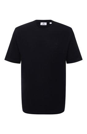 Мужская хлопковая футболка BURBERRY темно-синего цвета, арт. 8043239   Фото 1