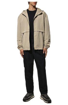 Мужская хлопковая футболка BURBERRY темно-синего цвета, арт. 8043239   Фото 2