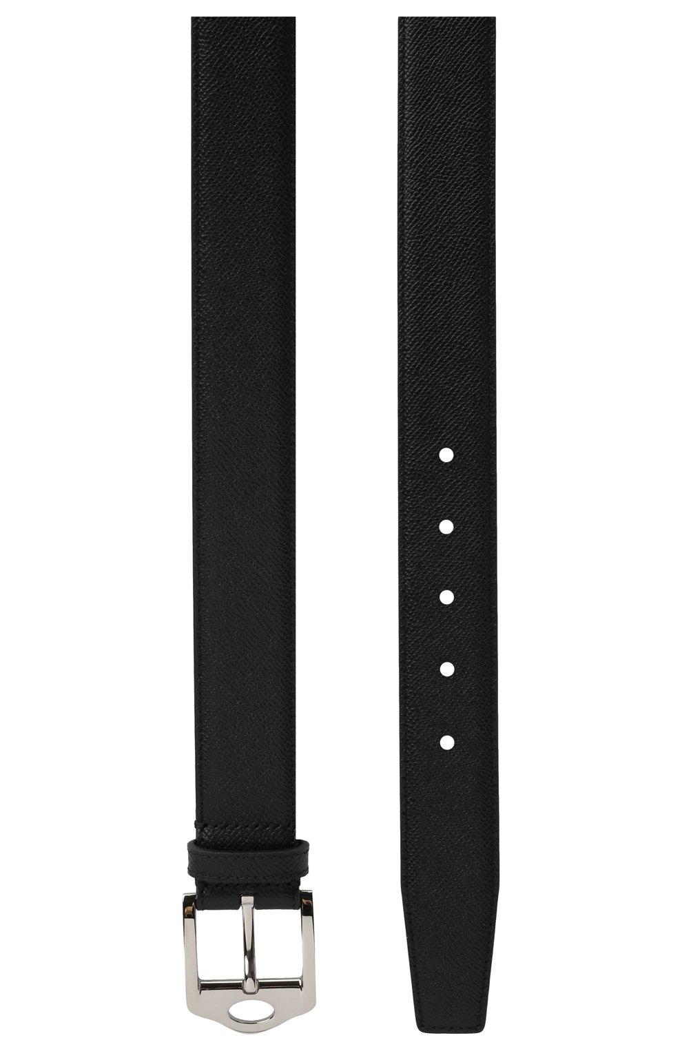 Мужской кожаный ремень BURBERRY черного цвета, арт. 8042553 | Фото 2 (Случай: Повседневный)