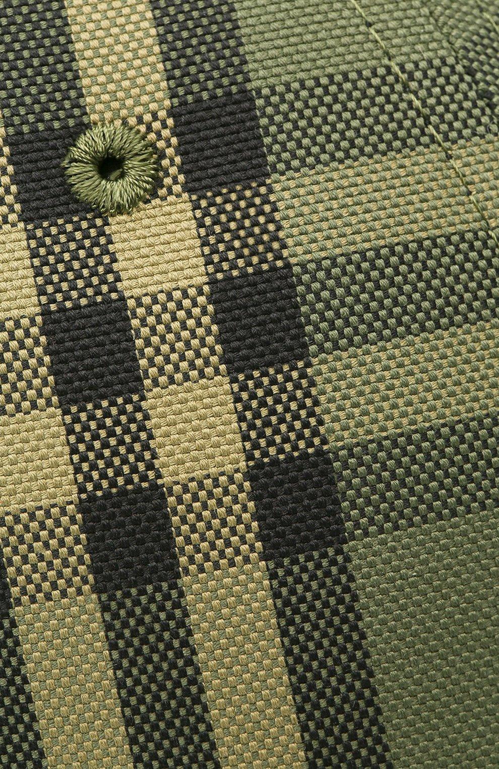 Мужской хлопковая бейсболка BURBERRY зеленого цвета, арт. 8041632   Фото 3 (Материал: Текстиль, Хлопок)