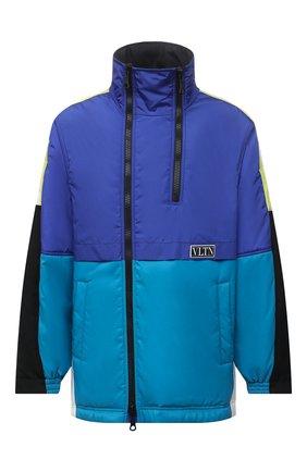 Мужская утепленная куртка VALENTINO синего цвета, арт. WV3CJG107FV | Фото 1 (Материал подклада: Синтетический материал; Длина (верхняя одежда): До середины бедра; Рукава: Длинные; Материал внешний: Синтетический материал; Кросс-КТ: Куртка; Мужское Кросс-КТ: утепленные куртки; Стили: Спорт-шик)
