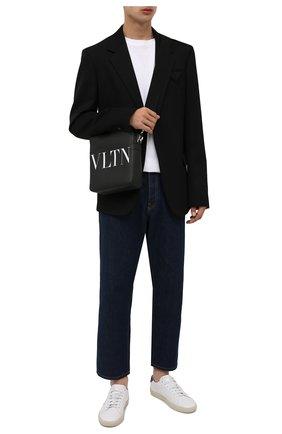 Мужская кожаная сумка vltn VALENTINO черного цвета, арт. WY2B0942/WJW   Фото 2