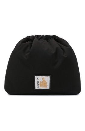 Мужская текстильная сумка LANVIN черного цвета, арт. LM-BGSSH1-NYL0-A21   Фото 1