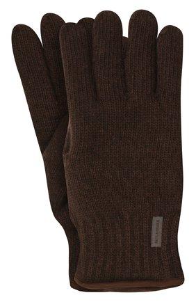 Мужские шерстяные перчатки PAUL&SHARK коричневого цвета, арт. 11317200/I7E | Фото 1