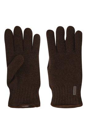 Мужские шерстяные перчатки PAUL&SHARK коричневого цвета, арт. 11317200/I7E | Фото 2