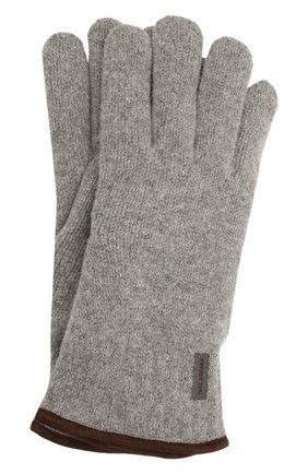 Мужские шерстяные перчатки PAUL&SHARK серого цвета, арт. 11317200/I7E | Фото 1