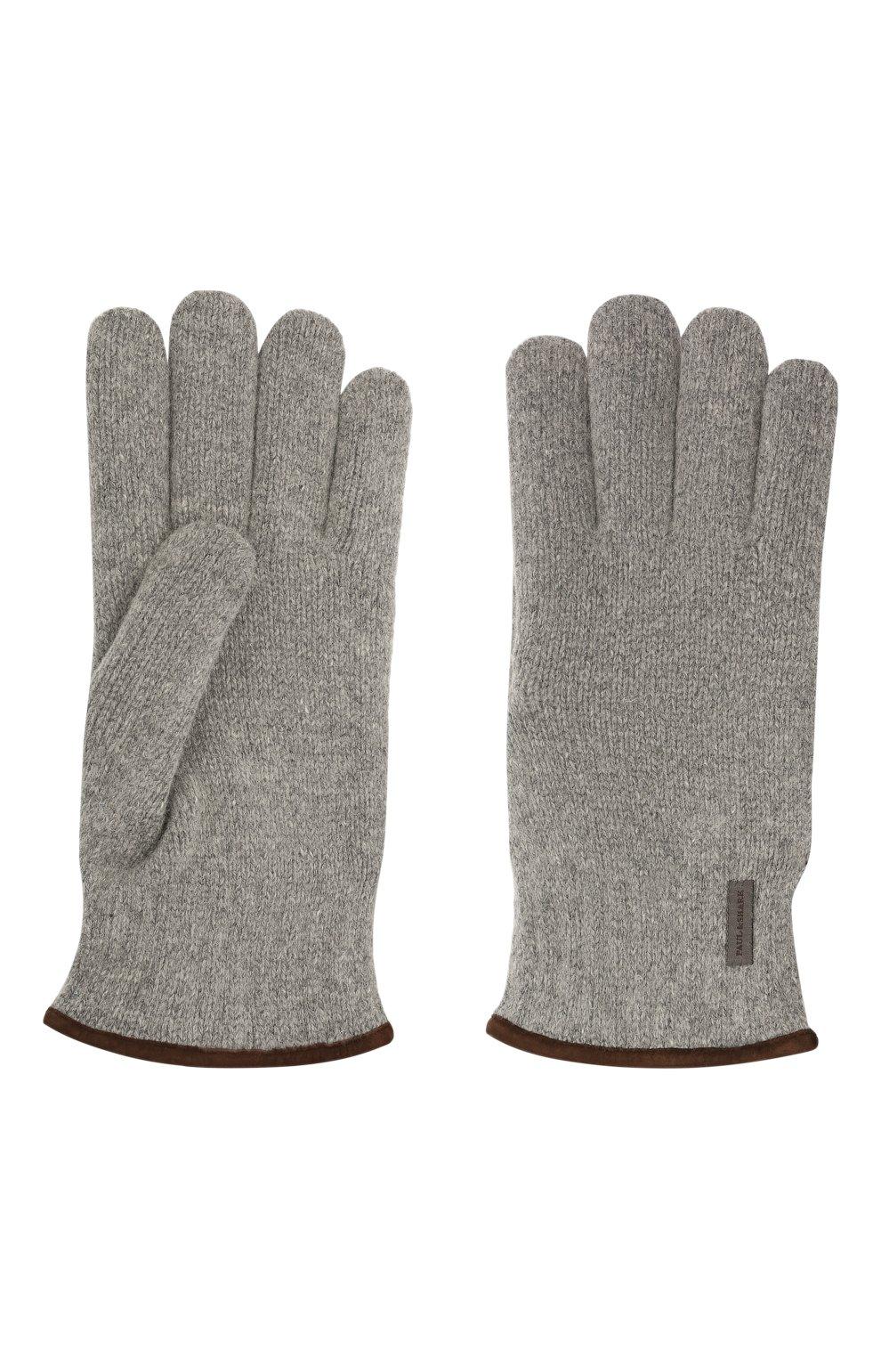 Мужские шерстяные перчатки PAUL&SHARK серого цвета, арт. 11317200/I7E | Фото 2 (Материал: Шерсть; Кросс-КТ: Трикотаж)