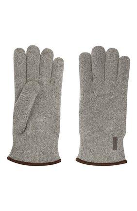 Мужские шерстяные перчатки PAUL&SHARK серого цвета, арт. 11317200/I7E | Фото 2