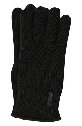 Мужские шерстяные перчатки PAUL&SHARK черного цвета, арт. 11317200/I7E | Фото 1