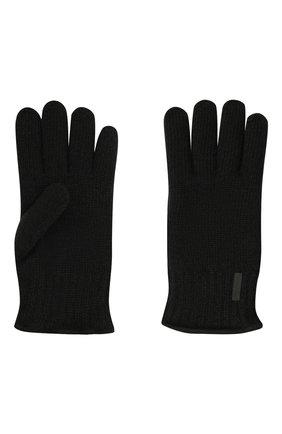 Мужские шерстяные перчатки PAUL&SHARK черного цвета, арт. 11317200/I7E | Фото 2