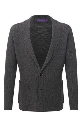 Мужской пиджак из вискозы и шерсти RALPH LAUREN серого цвета, арт. 790841413   Фото 1