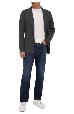Мужской пиджак из вискозы и шерсти RALPH LAUREN серого цвета, арт. 790841413   Фото 2