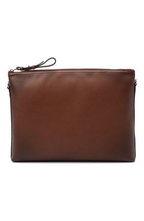 Мужская кожаная сумка RALPH LAUREN коричневого цвета, арт. 437854325 | Фото 1