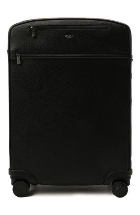 Мужской кожаный дорожный чемодан evoluzione SERAPIAN черного цвета, арт. SREVLMTR706455A | Фото 1