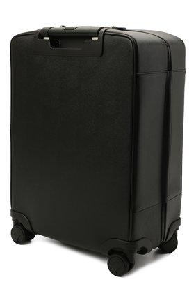 Мужской кожаный дорожный чемодан evoluzione SERAPIAN черного цвета, арт. SREVLMTR706455A | Фото 2