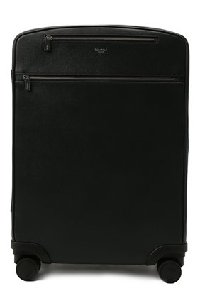 Мужской кожаный дорожный чемодан evoluzione SERAPIAN темно-синего цвета, арт. SREVLMTR706455A | Фото 1
