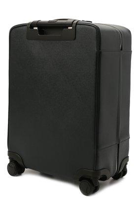 Мужской кожаный дорожный чемодан evoluzione SERAPIAN темно-синего цвета, арт. SREVLMTR706455A | Фото 2